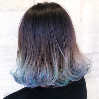 ハロウィン ストリート 簡単ヘアアレンジ ミディアム ヘアスタイルや髪型の写真・画像