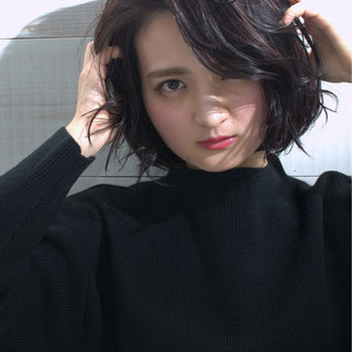 ショート 大人かわいい 暗髪 簡単ヘアアレンジ ヘアスタイルや髪型の写真・画像 ヘアスタイルや髪型の写真・画像