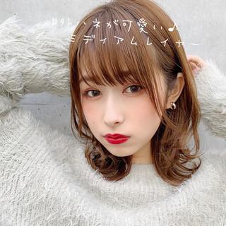 大人ミディアム セミディ ミディアムヘアー 鎖骨ミディアム ヘアスタイルや髪型の写真・画像