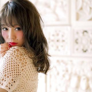 外国人風 大人かわいい フェミニン ナチュラル ヘアスタイルや髪型の写真・画像