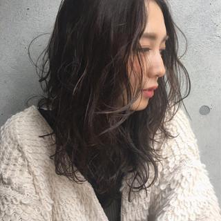 ナチュラル 大人女子 冬 セミロング ヘアスタイルや髪型の写真・画像 ヘアスタイルや髪型の写真・画像