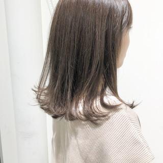 透明感 切りっぱなしボブ セミロング ナチュラル ヘアスタイルや髪型の写真・画像