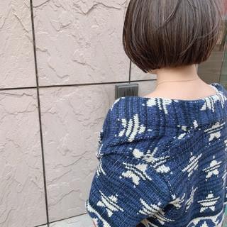 ナチュラル ハイライト 大人かわいい ボブ ヘアスタイルや髪型の写真・画像