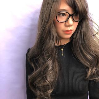 エレガント ホワイトアッシュ 外国人風カラー 3Dハイライト ヘアスタイルや髪型の写真・画像