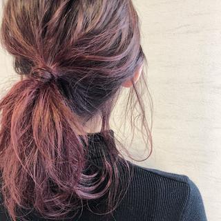 モード 簡単ヘアアレンジ セミロング アンニュイほつれヘア ヘアスタイルや髪型の写真・画像 ヘアスタイルや髪型の写真・画像