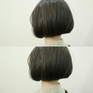 ナチュラル グレージュ ボブ ふわふわ ヘアスタイルや髪型の写真・画像 ヘアスタイルや髪型の写真・画像