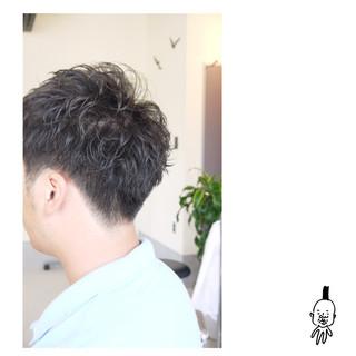 メンズ ショート 刈り上げ パーマ ヘアスタイルや髪型の写真・画像