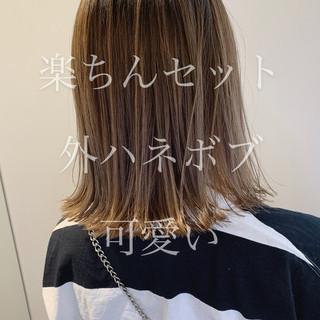 切りっぱなしボブ ボブヘアー モテボブ ミニボブ ヘアスタイルや髪型の写真・画像