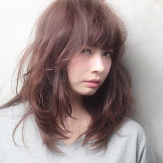 ショート ナチュラル セミロング ヘアアレンジ ヘアスタイルや髪型の写真・画像