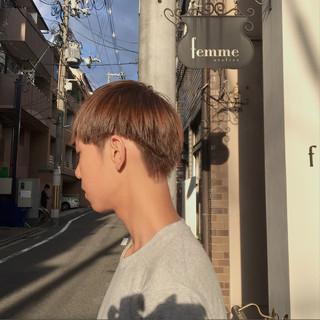 マッシュ ボーイッシュ ハイトーン ショート ヘアスタイルや髪型の写真・画像