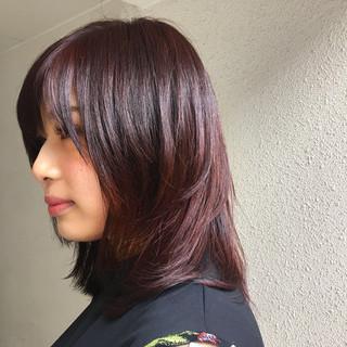 伸ばしかけ ピンク エレガント 上品 ヘアスタイルや髪型の写真・画像