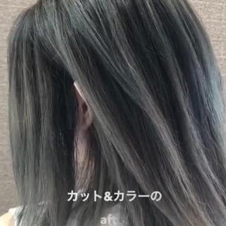 バレイヤージュ ストリート 外国人風カラー デート ヘアスタイルや髪型の写真・画像