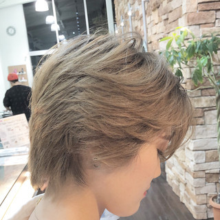 ショート 小顔 スポーツ 似合わせ ヘアスタイルや髪型の写真・画像 ヘアスタイルや髪型の写真・画像