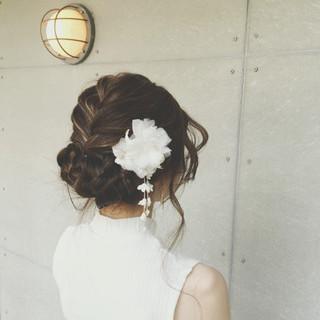 編み込み 和装 アップスタイル ロング ヘアスタイルや髪型の写真・画像 ヘアスタイルや髪型の写真・画像
