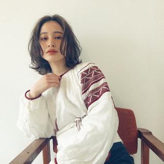 ナチュラル ワンカールパーマ デジタルパーマ ゆるふわパーマ ヘアスタイルや髪型の写真・画像