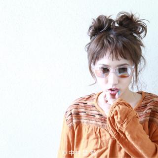 アンニュイ ヘアアレンジ 涼しげ ナチュラル ヘアスタイルや髪型の写真・画像