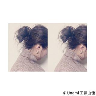 ゆるふわ ルーズ ショート ミディアム ヘアスタイルや髪型の写真・画像