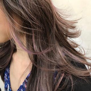 グラデーションカラー ハイライト ミディアム バレイヤージュ ヘアスタイルや髪型の写真・画像
