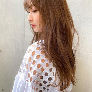 大人かわいい ロング 色気 透明感カラー ヘアスタイルや髪型の写真・画像