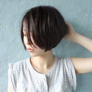 大人女子 ボブ ショート 秋 ヘアスタイルや髪型の写真・画像