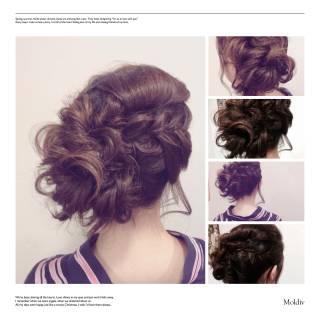 ナチュラル まとめ髪 ヘアアレンジ 花火大会 ヘアスタイルや髪型の写真・画像