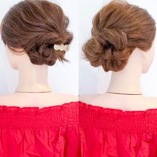 エレガント アウトドア ショート ヘアアレンジ ヘアスタイルや髪型の写真・画像