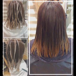 髪質改善カラー バレイヤージュ ハイトーンカラー ハイトーン ヘアスタイルや髪型の写真・画像