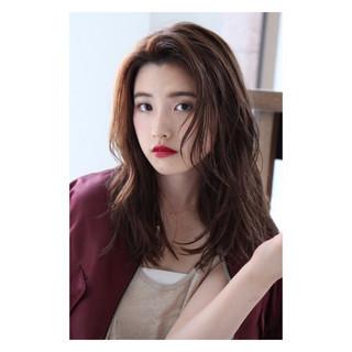 モード パーマ 艶髪 ピンク ヘアスタイルや髪型の写真・画像