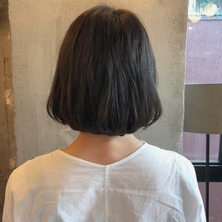 透明感 ボブ くすみカラー 暗髪 ヘアスタイルや髪型の写真・画像
