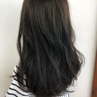 透明感 黒髪 ロング ナチュラル ヘアスタイルや髪型の写真・画像