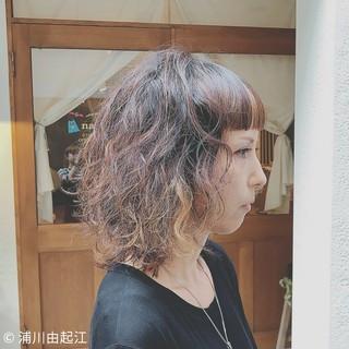 外国人風カラー ミディアム 大人かわいい ゆるふわ ヘアスタイルや髪型の写真・画像