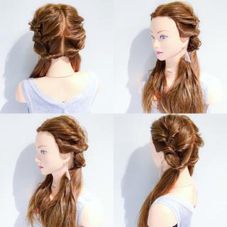 簡単ヘアアレンジ 涼しげ 上品 色気 ヘアスタイルや髪型の写真・画像