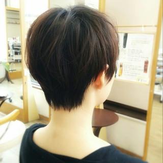 暗髪 ナチュラル 大人かわいい ショート ヘアスタイルや髪型の写真・画像 ヘアスタイルや髪型の写真・画像