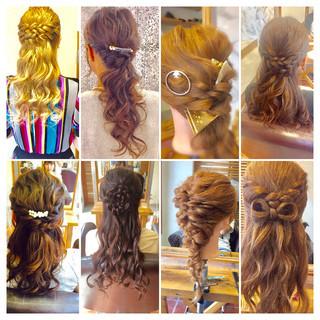 ヘアアレンジ ハーフアップ ショート セミロング ヘアスタイルや髪型の写真・画像