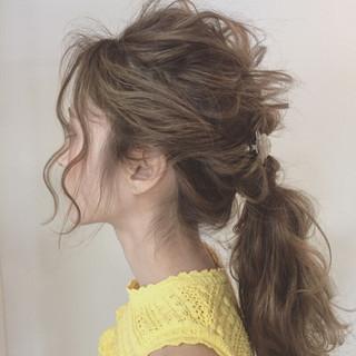 ロング 大人女子 涼しげ ヘアアレンジ ヘアスタイルや髪型の写真・画像