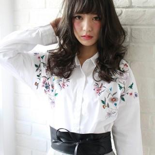 大人女子 前髪あり アッシュ 大人かわいい ヘアスタイルや髪型の写真・画像