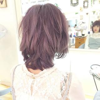 外国人風カラー ダブルカラー フェミニン ハイトーン ヘアスタイルや髪型の写真・画像