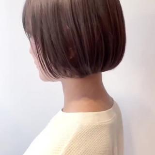 ベージュ ショートヘア ショートボブ ボブ ヘアスタイルや髪型の写真・画像