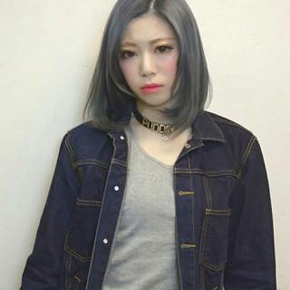 ストリート ハイライト 外国人風 アッシュ ヘアスタイルや髪型の写真・画像 ヘアスタイルや髪型の写真・画像