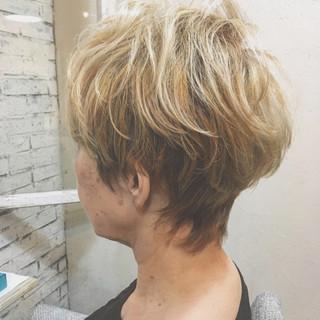 爽やか 外国人風 エレガント ショート ヘアスタイルや髪型の写真・画像