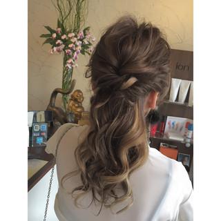 ロング まとめ髪 ヘアアレンジ 編み込み ヘアスタイルや髪型の写真・画像