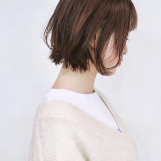 切りっぱなしボブ ミニボブ レイヤーボブ ナチュラル ヘアスタイルや髪型の写真・画像
