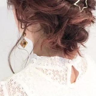 ルーズ ヘアアレンジ 大人かわいい ミディアム ヘアスタイルや髪型の写真・画像