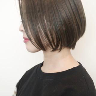 小顔 大人女子 外国人風 ボブ ヘアスタイルや髪型の写真・画像