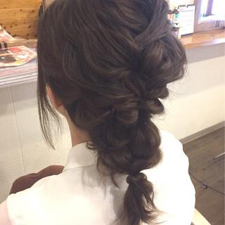 大人かわいい 編み込み フェミニン ヘアアレンジ ヘアスタイルや髪型の写真・画像 ヘアスタイルや髪型の写真・画像