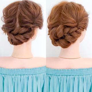 簡単ヘアアレンジ 上品 エレガント セルフヘアアレンジ ヘアスタイルや髪型の写真・画像 ヘアスタイルや髪型の写真・画像