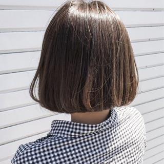 梅雨 デート リラックス ボブ ヘアスタイルや髪型の写真・画像