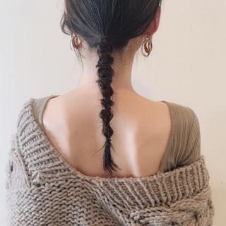 簡単ヘアアレンジ アンニュイほつれヘア 大人かわいい セミロング ヘアスタイルや髪型の写真・画像