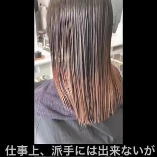 ミディアム ナチュラル グレージュ 透明感 ヘアスタイルや髪型の写真・画像