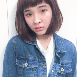 夏 黒髪 パーマ ピュア ヘアスタイルや髪型の写真・画像